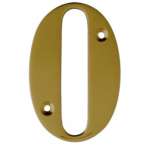 "3"" No. 0 - 1.6mm Stamped Times Roman Brass Numeral E/p"