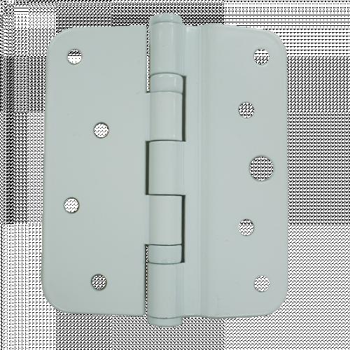 White uPVC Hinge Plate - 7.5mm - For XL Crimebeater Locks