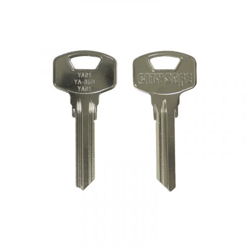 STEEL Custom Keyblank - HD Ref = YA91 - Silca Ref = YA91 - JMA Ref = YA-85D