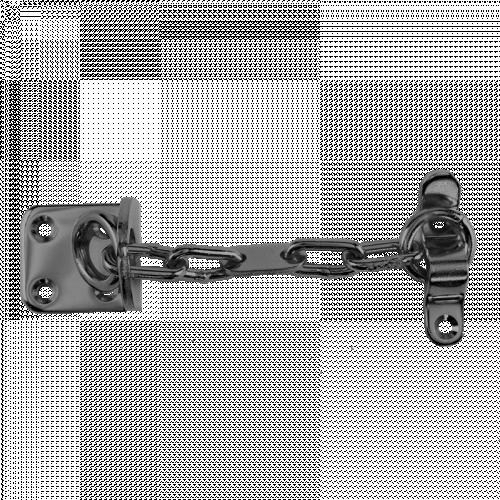 Narrow Door Chain - Satin Silver