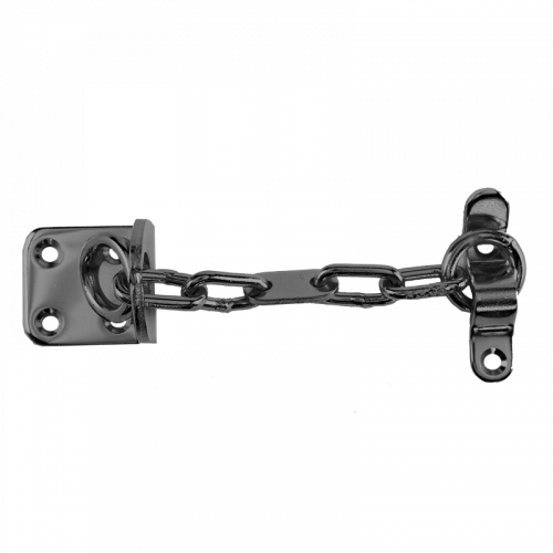 Narrow Door Chain - Satin Silver
