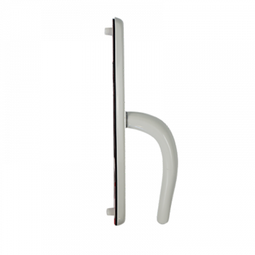 Nanocoast Handle for Fullex Gemini, SL16 and Type A Case - 243mm Backplate - 68mm Centres - White SS316 - FIXED LEVER