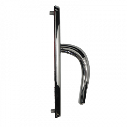 Door Handle 243mm Backplate - with Springs - 92mm Centres -Polished Chrome