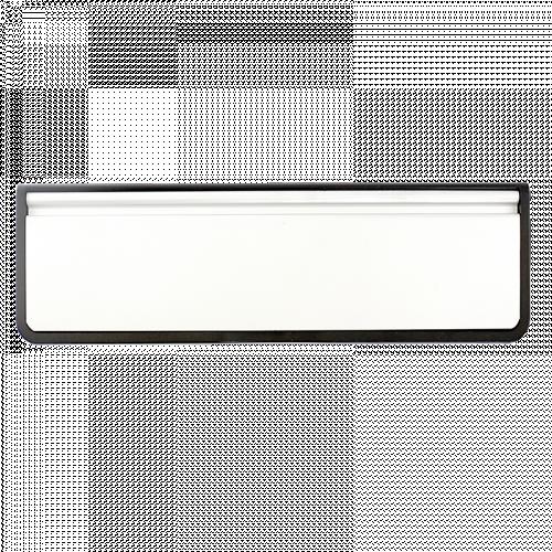 "Doormaster Letterplate 10"" 40/80 White Flap"