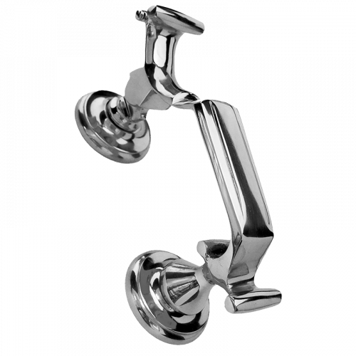 Large Traditional Doctor Door Knocker in Polished Chrome