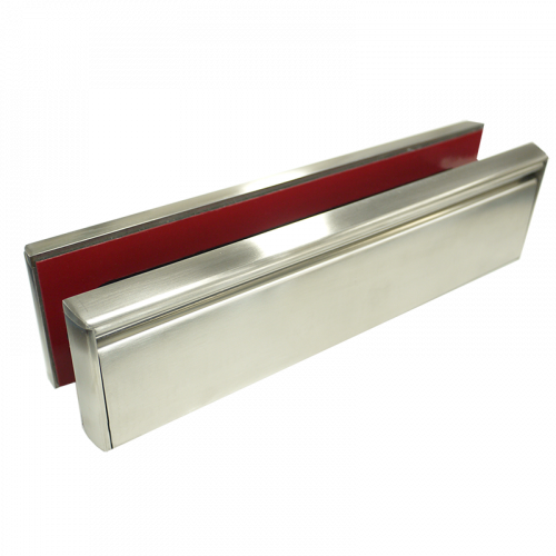 Firecheck Letterplate - Satin Stainless Steel  Frame and Flap - Fire Rated 1 Hour Timber, 30 min Foam Core