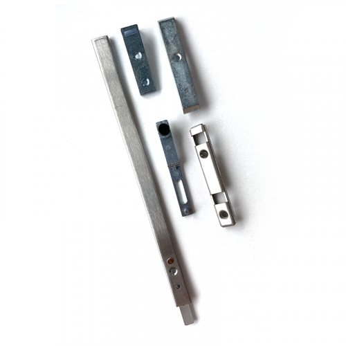2 x 262mm Shoot Bolts and Shoot Bolt Keeps for Patio Lock (one Pair)