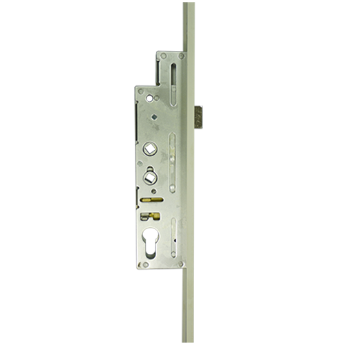 XL Crimebeater 45mm Backset with Bolts- Dual Spindle - 2100mm  - 44mm WHITE Faceplate