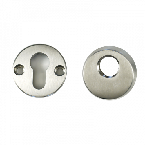 High Security Escutcheon Satin Stainless Steel Nanocoast