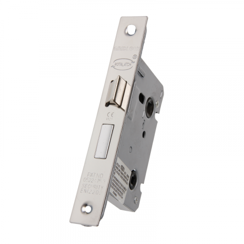 75 MM NP MORTICE BATHROOM LOCK SQ F/END