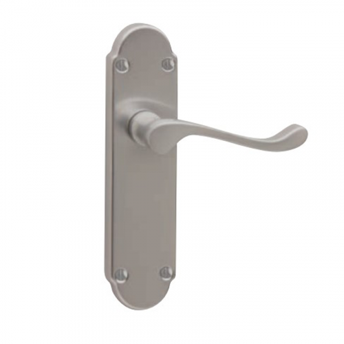 CHELSEA Bathroom Lock Handle - Satin Chrome Plate