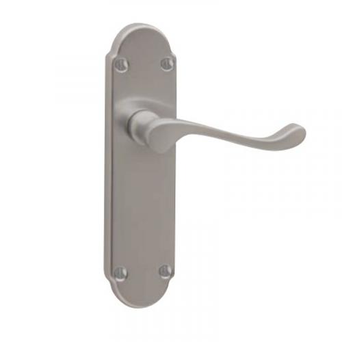 CHELSEA Bathroom Lock Handle - Satin Chrome Plate