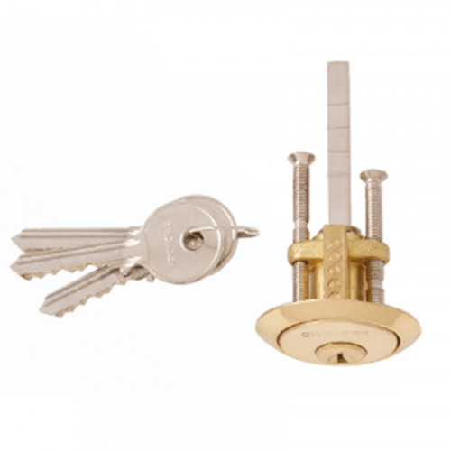 POLISHED BRASS RIN CYLINDER PULL