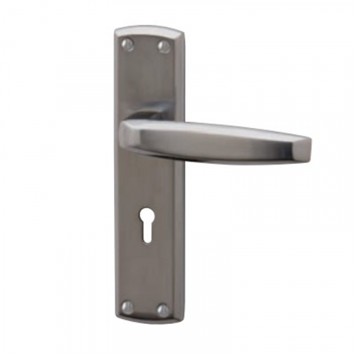 DECO Bathroom Lock Handle - Chrome Plate and Satin Chrome Plate Dual Finish