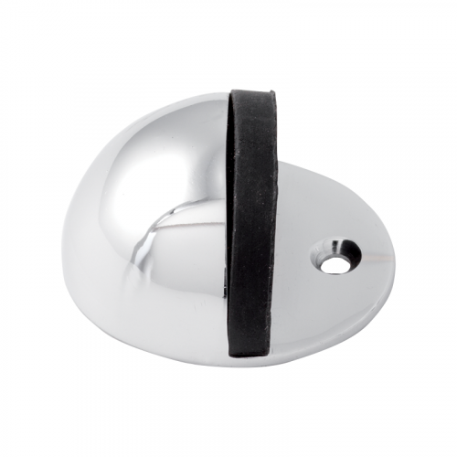 SATIN CHROME OVAL FLOOR DOORSTOP