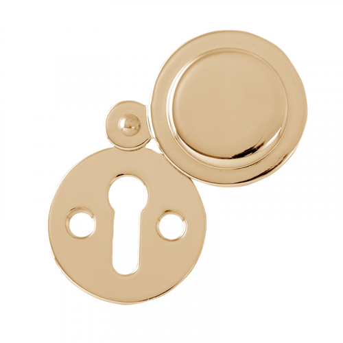 VICTORIAN POL'D BRASS COVERED ESCUTCHEON