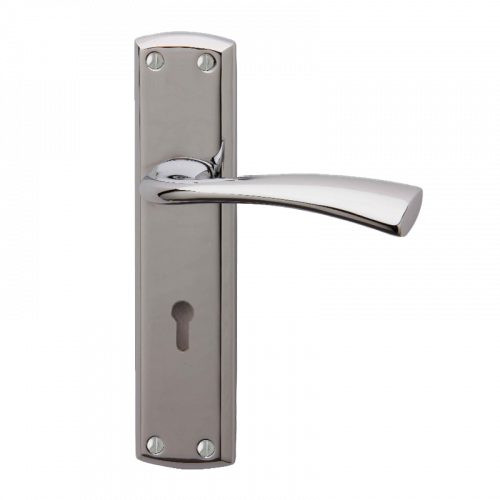 GROSVENOR  Handle with Euro Lock Profile cut out - Chrome Plate
