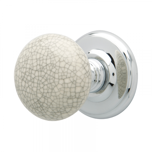 CRACKLE PORCELAIN KNOB WITH PCP CON ROSE