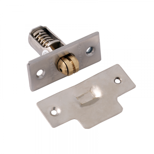 SATIN STAINLESS HEAVY DUTY ROLLER CATCH