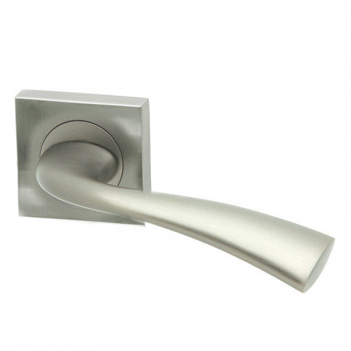SCIMITAR SATIN CHROME LEVER SQUARE ROSE