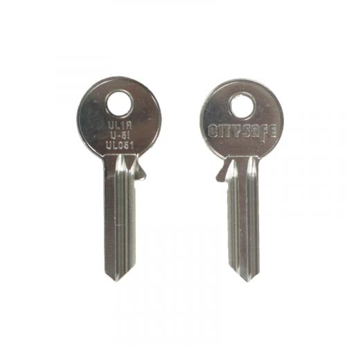Keyblank - HD Ref = UL1R - Silca Ref = UL051 - JMA Ref = U-5I