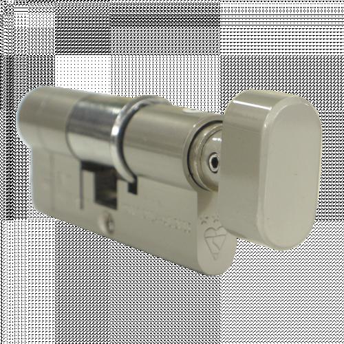 80mm 30-10-40T (35/45) Satin Nickel 3* Kitemarked Euro Cylinder (Exterior = 30mm Side) TT on 40mm side