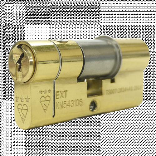 100mm 45-10-45 (50/50) Polished Brass 3* Kitemarked Service Cylinder