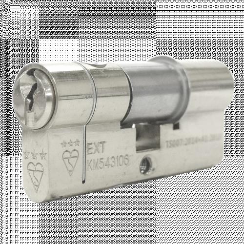 100mm 50-10-40 (55/45) Polished Chrome 3* Kitemarked Keyed Alike Euro Cylinders (Exterior = 50mm Side)