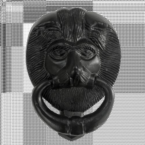 "6"" Black Iron Lions Head"