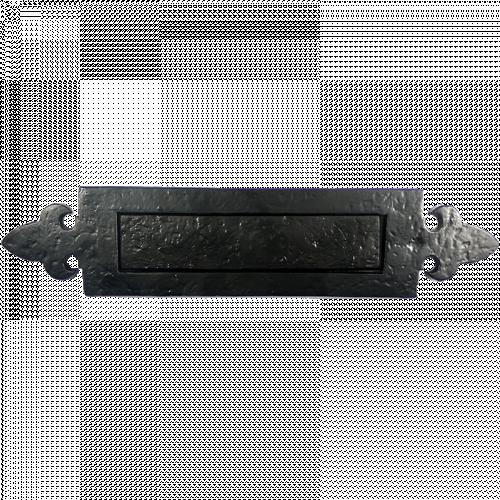 Black Iron Fleur de Lys Letterplate