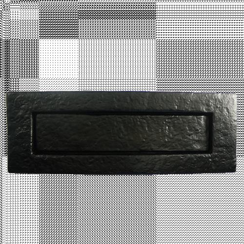 Black Iron Plain Letterplate