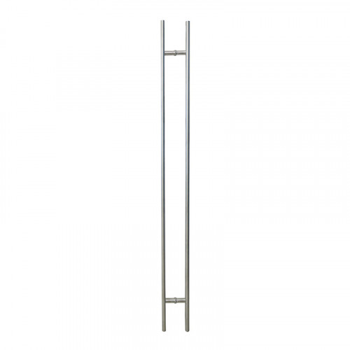 Pull Handle - 1500mm Straight DESIGNER SLIM Design including 2 fixings with bolts - Satin Stainless Steel 316 - 38mm Diameter