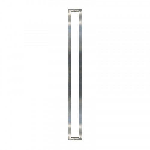 Pull Handle - 1500mm Straight QUAD Square Design including 2 fixings with bolts - Satin Stainless Steel 316 - 38mm Diameter
