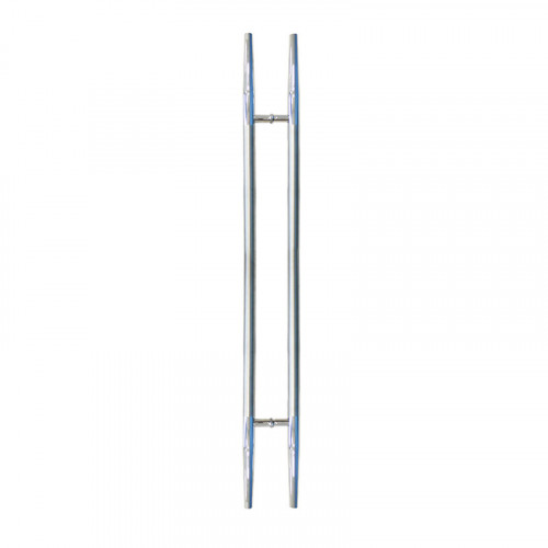 Pull HAndle - 1500mm Straight SPEAR Design including 2 fixings with bolts - Satin Stainless Steel 316 - 38mm Diameter