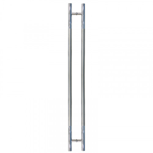 Pull Handle - 1500mm Straight TRIUMPH Design including 2 fixings with bolts - Satin Stainless Steel 316 - 38mm Diameter