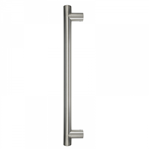 Pull Handle - 900mm Straight including 2 fixings with bolts - Satin Stainless Steel 316