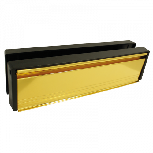 City Safe Gold Anodised 10 Inch Letterbox - 40-80mm - Blister Packed