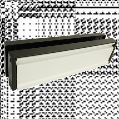 """10"""" Petit Master 40/80 L/Plate - Black Frame - white Flap"""