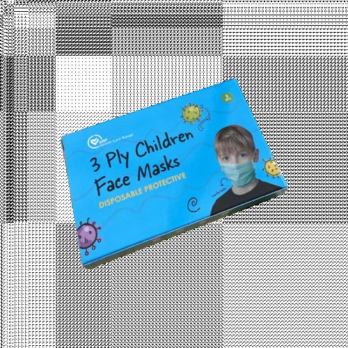 3 Layers Disposable Children's Face Masks 5 Piece Pack