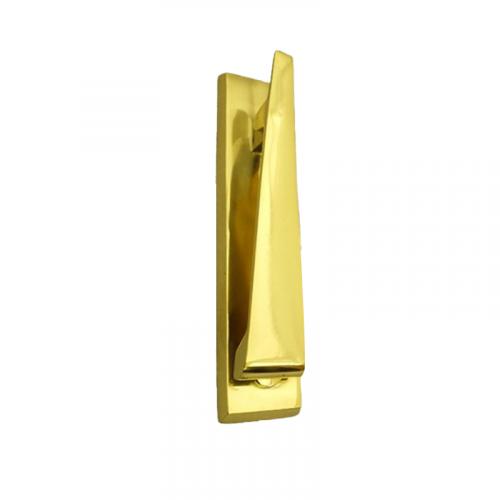 "6"" Ponytail Door Knocker in Polished Brass"