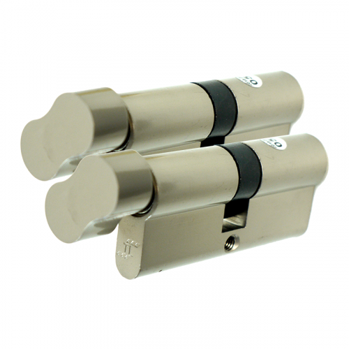 TL Specification Anti Drill Thumbturn cylinder - 50/50 (100mm) - Nickel Keyed alike in Pairs