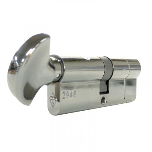 Security Handle  UAP+ 25-10-30 - Snap on 25mm side TT on 30mm side - Chrome - EN1303 Cylinder