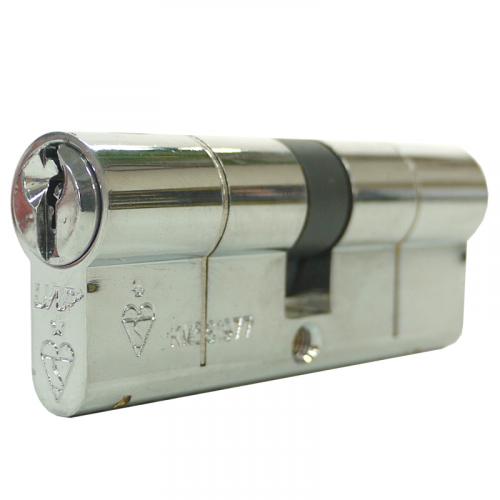 80mm 35-10-35 (40/40) Chrome UAP+ 1* Kitemarked Euro Cylinder
