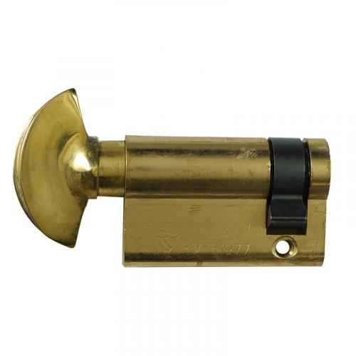 HALF Zero Lift SXD Anti Bump, Pull + Sacrificial Cut Satin BRASS 35-10-5 - 50mm THUMBTURN