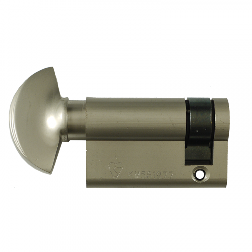 HALF Zero Lift SXD Anti Bump, Pull + Sacrificial Cut Satin Nickel 35-10-5 - 50mm THUMBTURN