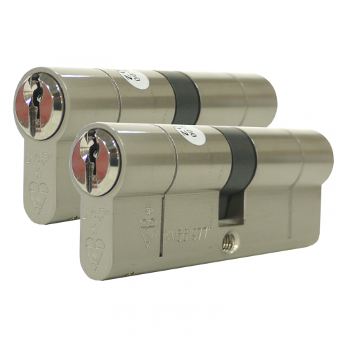 Zero Lift SXD Anti Bump, Pull + Sacrificial Cut Nickel 45-10-45- 100mm - Keyed alike in Pairs (2 cylinders)