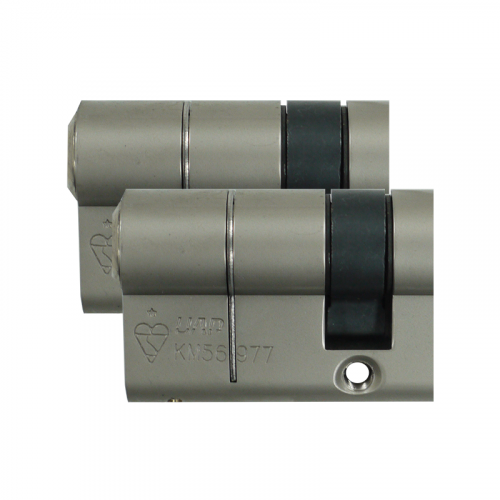 HALF Zero Lift SXD Anti Bump, Pull + Sacrificial Cut Satin Nickel 45-10-5 - 60mm - Keyed alike in Pairs