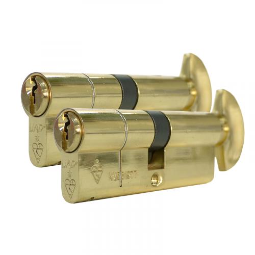 Zero Lift SXD Anti Bump, Pull + Sacrificial Cut Brass TT 45-10-45-100mm Keyed alike in Pairs